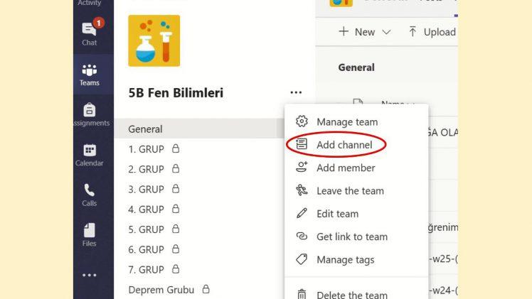 Microsoft Teams – Grup Çalışması